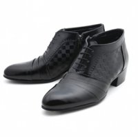 [MOODA] 2016 New Korean Trendy Fashion Business Men Shoes/NEW SENSEString Black