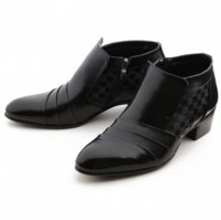 [MOODA] 2016 New Korean Trendy Fashion Business Men Shoes/NEW SENSESlip Black