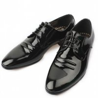 [MOODA] 2016 New Korean Trendy Fashion Business Men Shoes/PLANE(String) Black
