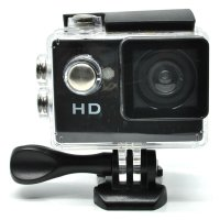 Action Camera A7 Waterproof 1080P Wide Angle Layar LCD - Black