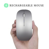 Mouse Bluetooth 4.0 Rechargeable - Silver