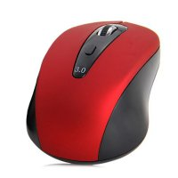 Mouse Wireless Bluetooth 3.0 1600DPI - Black/Red