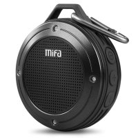 MIFA Waterproof Bluetooth Speaker with Carabiner - F10 - Black