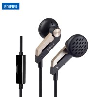 EDIFIER Earphone Earbud dengan Microphone - H186P - Black
