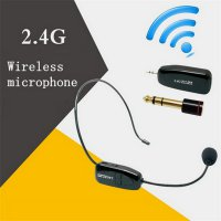 Wireless Headset Style Call Center with Transmitter - Black