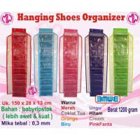 Rak Sepatu gantung Resleting HSOZ Hanging Shoes Organizer HSO Zipper retsleting sleting ritsleting