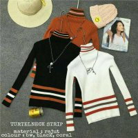 [BLOUSE] TURTLE NECK SWEATER BLOUSE ATASAN BAJU WANITA KNIT RAJUT BLUSS JAKET