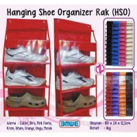 Rak sepatu gantung HSO Hanging Shoes Organizer 420d No Zipper ( resleting sleting retsleting )