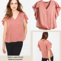 [BLOUSE] BAJU BRANDED MURAH WHBM ORANGE CAPE BLOUSE ORIGINAL PREMIUM