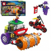 Lego Mobil Batman Movie Super Hero SY 317 SY317 HeroesThe Joker Steam Roller