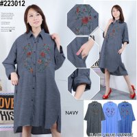 [BLOUSE] TUNIK KATUN TENUN BIGSIZE FIT TO XXXL KODE 223012