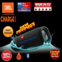 JBL CHARGE 3 WATERPROOF PORTABLE BLUETOOTH SPEAKER ( BLACK )