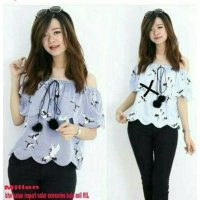 [BLOUSE] SABRINA ATASAN BLOUSE BAJU BLUSS WANITA BIRD BIRDIR FLAMINGGO FLAMINGO