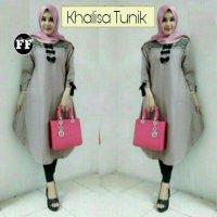 [BLOUSE] KHALISA TUNIK ATASAN WANITA BLOUSE LONG TOP