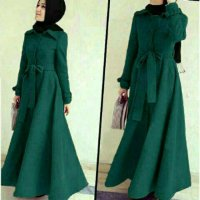 baju muslim wanita Long Coat Lotto Abudhabi Tosca