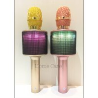 D03 Mic Wireless Bluetooth Karaoke LED Microphone Speaker KTV Efek USB Player U9 U10 Q7 Q9