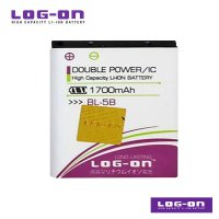 LOG-ON Battery For Nokia 5B - DoublePower & IC - Garansi 3 Bulan