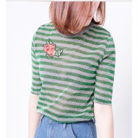 [BLOUSE] ATASAN SALUR SABRINA TANGAN UNIK FASHION BIG BAJU TOP ZARA UNIQLO
