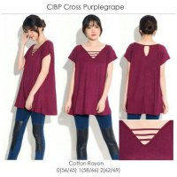 [BLOUSE] COTTON INK CROSS BIG SIZE BLOUSE BRANDED