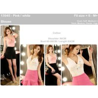 [BLOUSE] SEXY TANK TOP IMPORT, PINK, WHITE, COTTON,BANGKOK, KOREA, MURAH