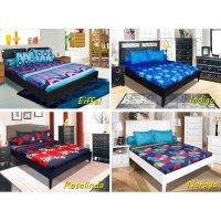 Sprei California Bantal 4 Ukuran 180x200