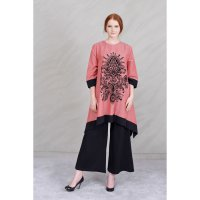 [BLOUSE] OKECHUKU NEW WIDE LONG TUNIK PRINT BELUDRU 3/4 SLEEVE - ARIMBI
