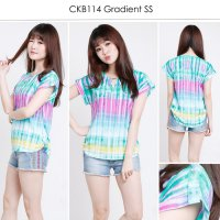 [BLOUSE] CALVIN KLEIN GRADIENT BLOUSE BRANDED