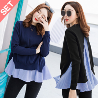 BLOUSE  ( 9628 POLOS)KASSY KNIT N BLOUSE SET BAJU 2IN1 8ff6ce4332