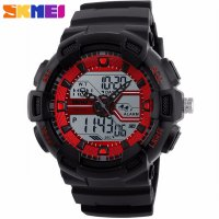 SKMEI 1189 (Red) Sporty Jam Tangan Dual Time/ Jam Analog Dan Digital / Strap Resin Original