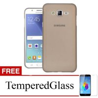 Case for Samsung Galaxy J5 Prime - Abu-abu + Gratis Tempered Glass - Ultra Thin Soft Case