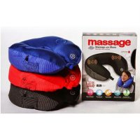 Bantal Leher Pijat Musik MP3 / Travel Pillow Massager With Music MP3
