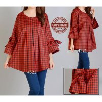 [BLOUSE] BLOUSE JUMBO CHECKER XXL