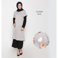 Just Mom Baju Menyusui Gabby Black Polka GB105