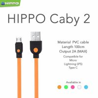 Kabel Data Hippo Caby Micro USB 5 warna | ORIGINAL | MURAH...
