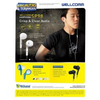 Wellcomm SP98 Stereo Earphone | handfree | headset | Design Apple