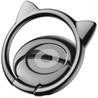 Baseus Cat Ear iRing Smartphone Holder - SUMA-01 - Black
