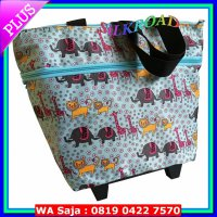 #Tote Bag Foldable Shopping,Belanja Roda,Trolley Bag/Tas TOTE Troli Lipat Animal