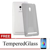 Case for Asus ZenFone 3 Max 5.5' / ZC553KL - Abu-abu + Gratis Tempered Glass - Ultra Thin Soft Case