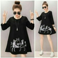 blouse Md catty hitam VO110R
