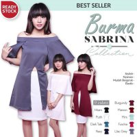 [BLOUSE] CRG162080 - BURMA SABRINA / SPLIT FRONT TOP SABRINA / LONG SLIT BLOUSE
