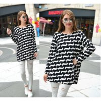 [BLOUSE] BLOUSE LOOSE WAVY STRIPES - BAJU WANITA IMPORT - BLOUSE JUMBO BIG SIZE