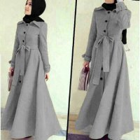 [BLOUSE] LONG COAT ABU DABI ABU BHN LOTTO TEBAL+PHSMINA SPNDEX FIT L