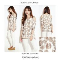 [BLOUSE] RUBY COLD CHOCO BLOUSE BRANDED