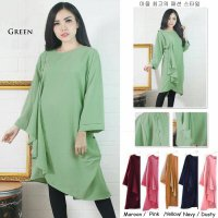 [BLOUSE] TUNIK CREPE BIGSIZE FIT TO XXXL KODE G07033