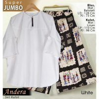 [BLOUSE] ANDERA SUPER JUMBO WHITE