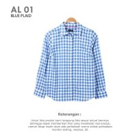 [BLOUSE] ALAN WOMAN LONG SLEEVES PLAID BAJU ATASAN KEMEJA BLOUSE WANITA BRANDED