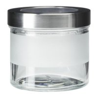 Ikea Droppar ~ Stoples Kaca Frosted Dgn Penutup Stainless Steel 0.4L /ROYL622
