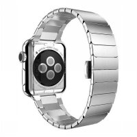 Hoco Link Style Stainless Steel Band for Apple Watch 38mm Series 1 2 - Silver