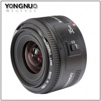 YONGNUO YN 35mm F2 Lens Wide-Angle Fixed / Prime Auto Focus Lens for Canon - Black