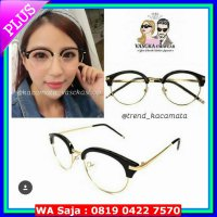 (Kacamata) SALE kacamata korean bulat round glasses kc 113 black